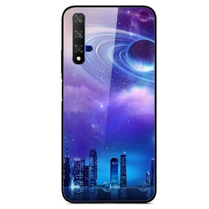 Glass Case For Honor 20 Phone Case Phone Cover Phone Cell Back Bumper Star Sky Pattern