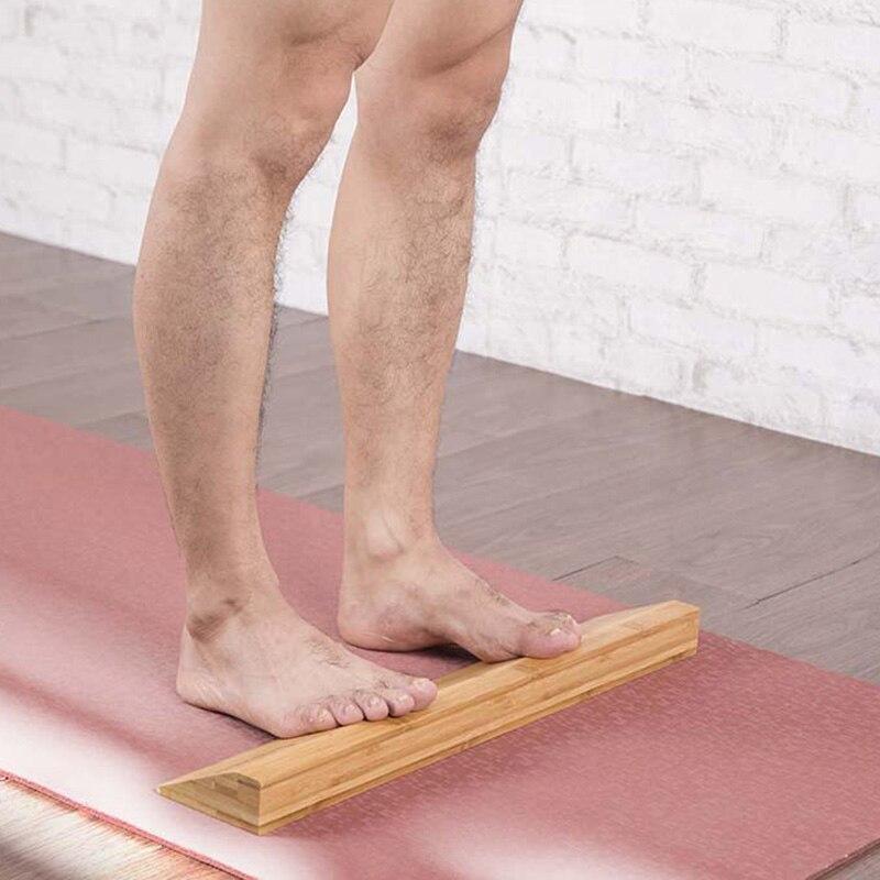 Caliente-Yoga tablero inclinado pantorrilla tobillo camilla de madera antideslizante cuña Yoga ladrillo Fitness Accesorios
