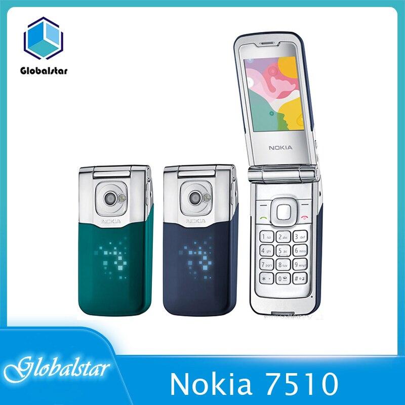 Nokia 7510 Refurbished Original 7510A Single Screen Supernova Mobile Phone Refurbished Flip Unlocked