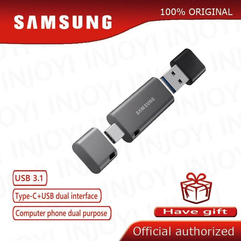 SAMSUNG unidad de memoria USB 32G 64G Metal Pen Drive USB tipo C USB 3,1 Pendrive 128G 256G de memoria Smartphone Tablet PC