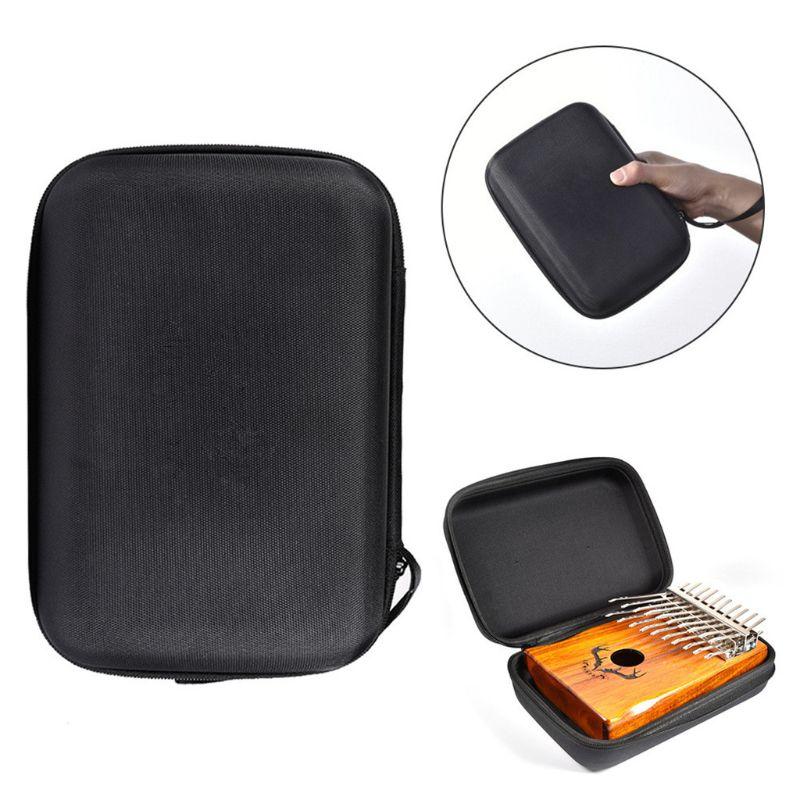 17/15/10 Keys Kalimba Case Thumb Piano Storage Bag EVA Sanza Kalimba Handbag with a Slot for Placing Tuning Hammer