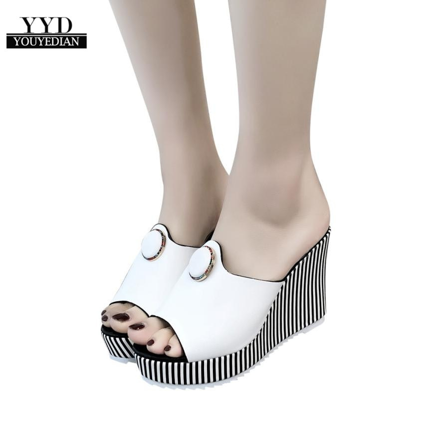 Sandalias de tacón alto a rayas a la moda para mujer, sandalias,...