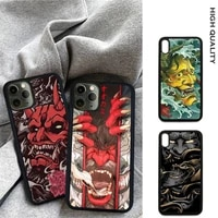 japanese oni hannya demon mask soft tpu hard pc cell phone cover for samsung s9 s10 s20 plus s21 s30 ultra s8 s10e note 20 case