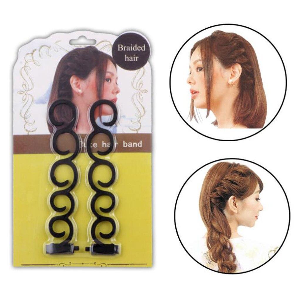 2 unids/set para mujer, herramienta de trenzado de pelo francés, pinza mágica para estilizar el pelo, broches para el cabello, accesorios para el cabello