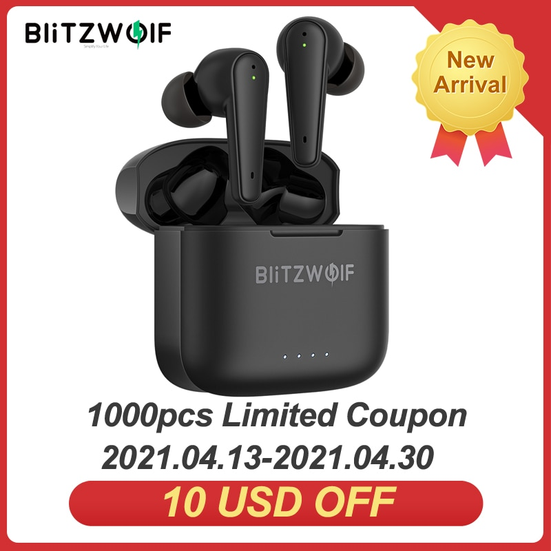 [Dual ANC] BlitzWolf BW-FYE11 TWS bluetooth V5.0 Earphone Active Noise Reduction with 4 Mic HiFi Ste