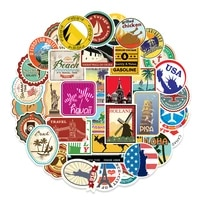 100pcs travel scenery stickers pvc city landmark stickers pack kids toy diy decor graffiti sticker fridge computer sticker