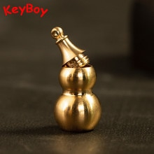 Латунные полые тыквенные брелоки кулоны медные ручной работы Lucky Gourd автомобиль поясная пряжка подвесной Feng Shui ювелирный брелок кольца Подарки