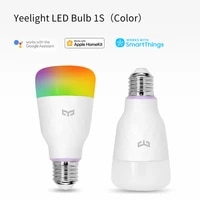 Yeelight     Ampoule LED connectee 1S  coloree  E27  800 lumens  lampe intelligents  pour application Apple Homekit  Mi Home  smartThings  Google Assistant