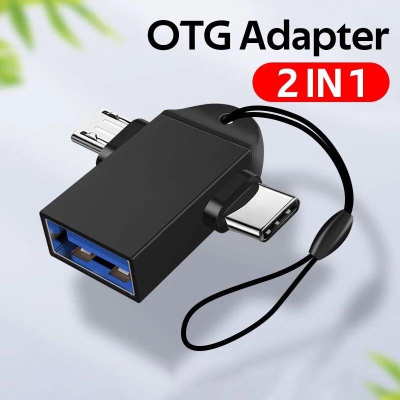 Adaptador OTG 2 en 1 USB 3.0 conector hembra a Micro USB...