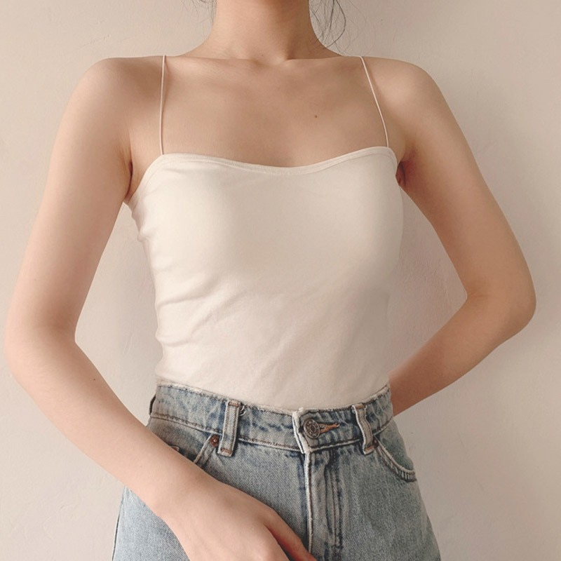 2020 mujeres Sling Tube Top Sexy Bra Top transpirable pecho Pad ropa interior sin tirantes blusa tubo top bandeau top *