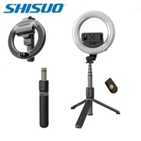 shisuo l07 led ring light with stand selfie ring bluetooth selfie stick with tripod floor lamp table lamp eye protection