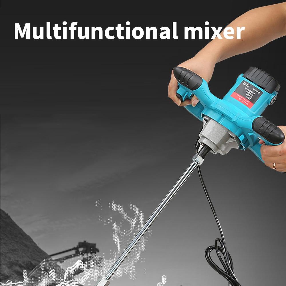 2100W Grade Mixer Adjustable Speed Paint Cement Plaster Coating Mixing Machine 6 Gear enlarge