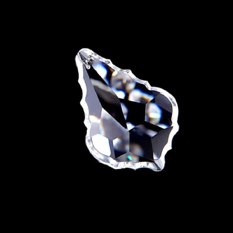 Suncatchers transparentes 38mm 50mm 63mm 76mm hoja de arce cristalina lámpara gotas araña de cristal colgantes para colgar decoración del hogar