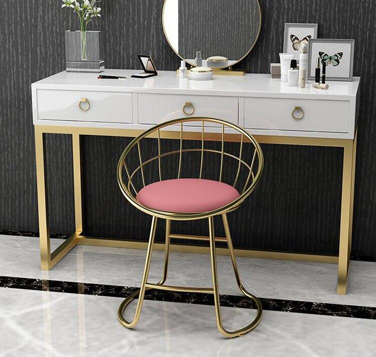Современный минималистский стул для макияжа туалетный столик/туалетный столик и стул, стул для одевания гостиная, спальня мягкая спинка за...