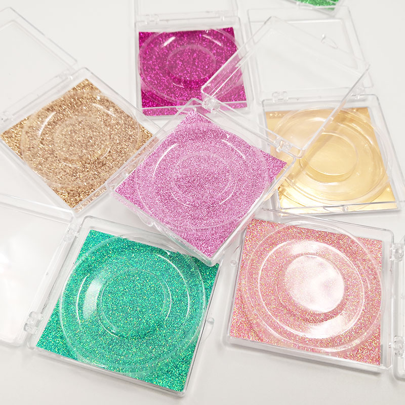 Novo 20 pces amostra de cílios postiços caixa de embalagem 10mm-25mm mink lash caixas retângulo magnético caso cosmético armazenamento vazio