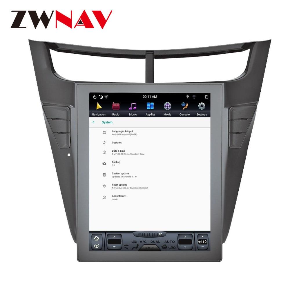 Android 9 Vertical de Tesla para CHEVROLET Sail 2015-2018-2019 Auto IPS pantalla PX6 DSP coche DVD GPS reproductor Multimedia Radio Audio