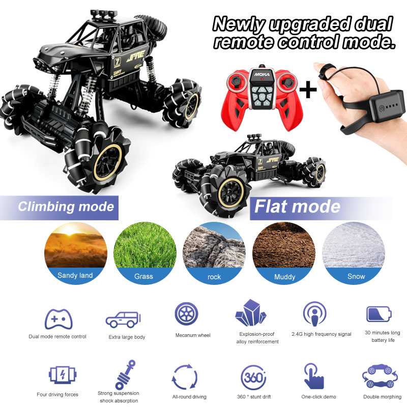 1:16 4WD Oversized Charging New Gravity Sensor Watch RC Car High Speed Off-Road Vehicle Alloy Wirele