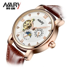 Nary Top Brand Watches Men Watches Tourbillon Automatic Mechanical Watches 3ATM Waterproof Men's Wri