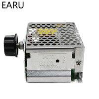 Модуль контроллера скорости двигателя SCR, 4000 Вт, 220 В переменного тока, регулятор напряжения, регулятор температуры для электрической печи, в...