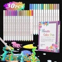 30pcsset color acrylic paint marker pens set permanent for stone glass card making metal fabric art school supplies