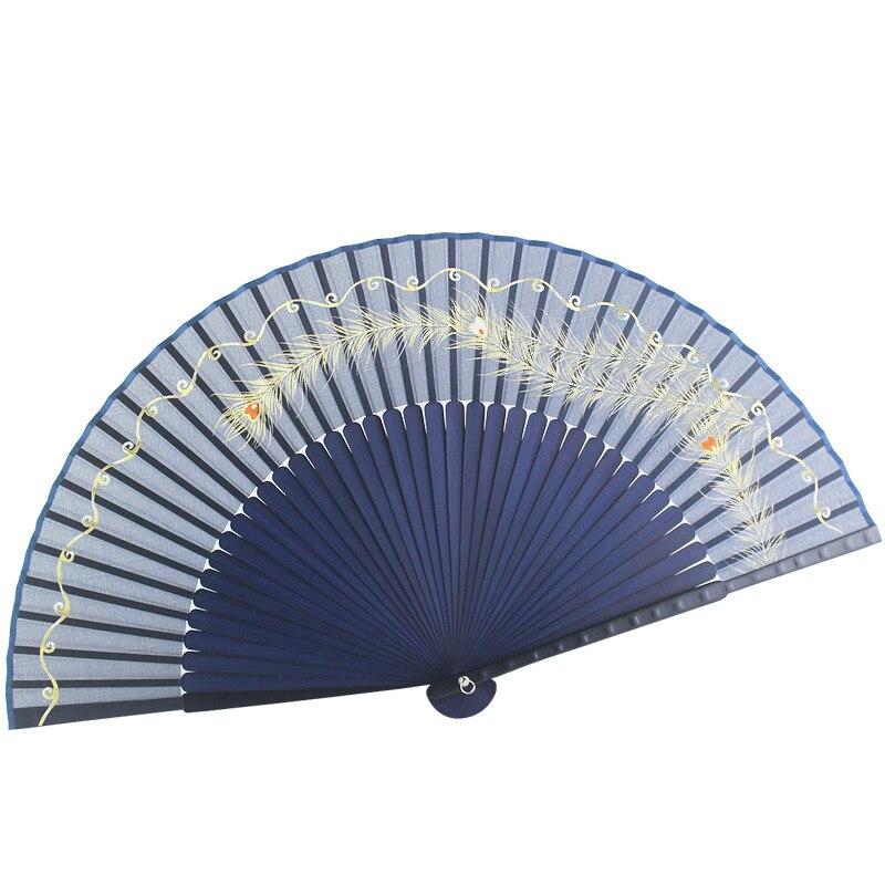 Abanico de seda Para baile clásico chino, abanico de mujer plegable y...
