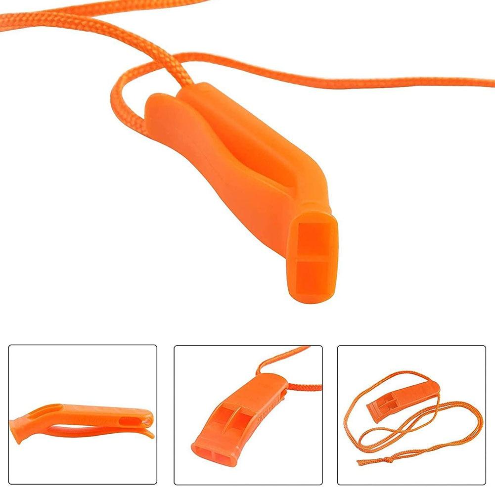 20 шт. аварийные свистки, безопасные пластиковые свистки для выживания, громкие свистки для Каяка, спасательный жилет, куртка для лодки, кемп...