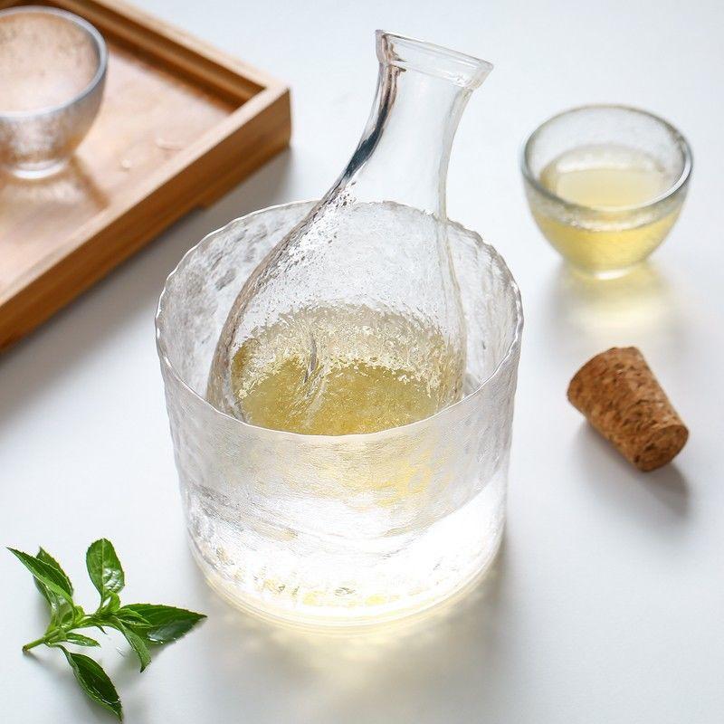 Japonés transparente Bar conjuntos de cristal creativa hecha a mano caliente jarra...