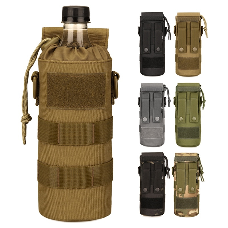 Small Kettle Bag Outdoor 500ml 600ml Foldable Sleeve Waist Hanging Tactical Cup Satchel