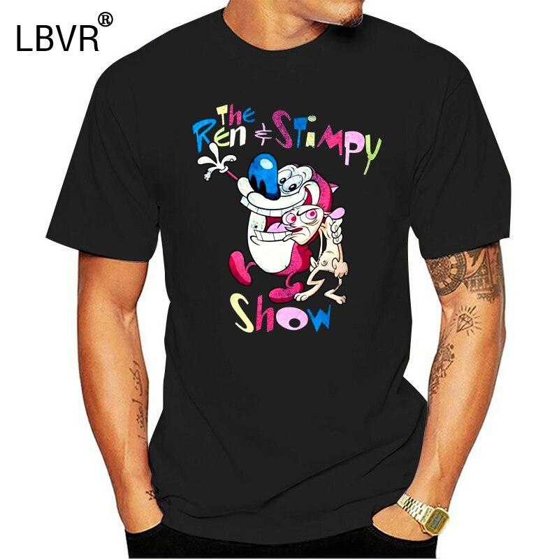 Camisa masculina t ren e stimpy mostrar engraçado camiseta novidade tshirt feminino