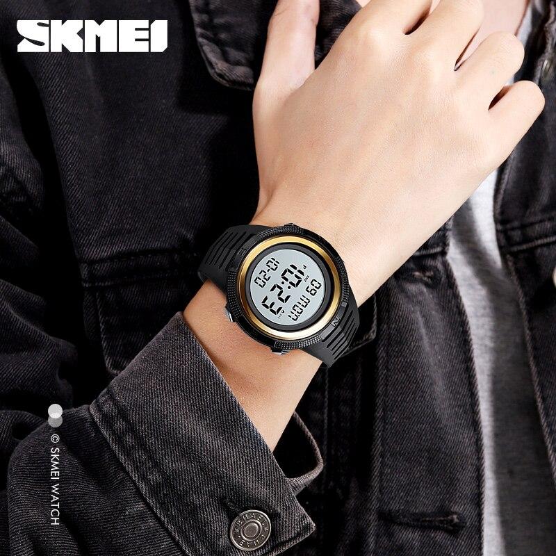 SKMEI Sport Watch LED Chronograph Waterproof 5ATM Electronic Clock Digital Watch 1632 enlarge