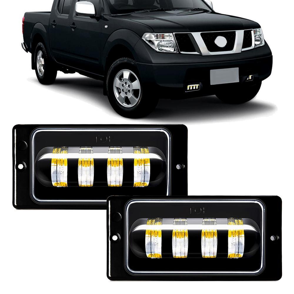 M&C For Lada 2110 -2117 2PCS Car LED Front Fog Light DRL Waterproof 30W 6000K Work Lamp Bar Auto Fog Passing Lamp Assembly