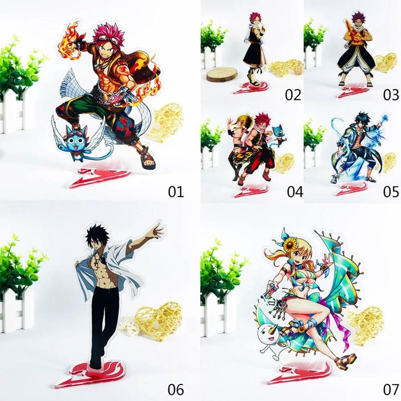 Anime Fairy Tail Natsu Grey Lucy Habi Acrylic Stand Double-side Figure Model Plate Holder Desktop Decoration