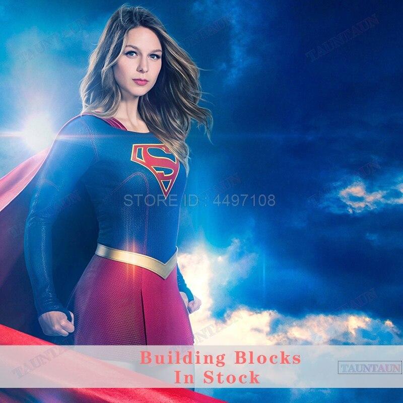 Blocks Toys Supergirl Season 4 Superman Power Girl Martian Manhunter Batman Robin DC Figures Set Block Toy Marvel Avengers Hulk