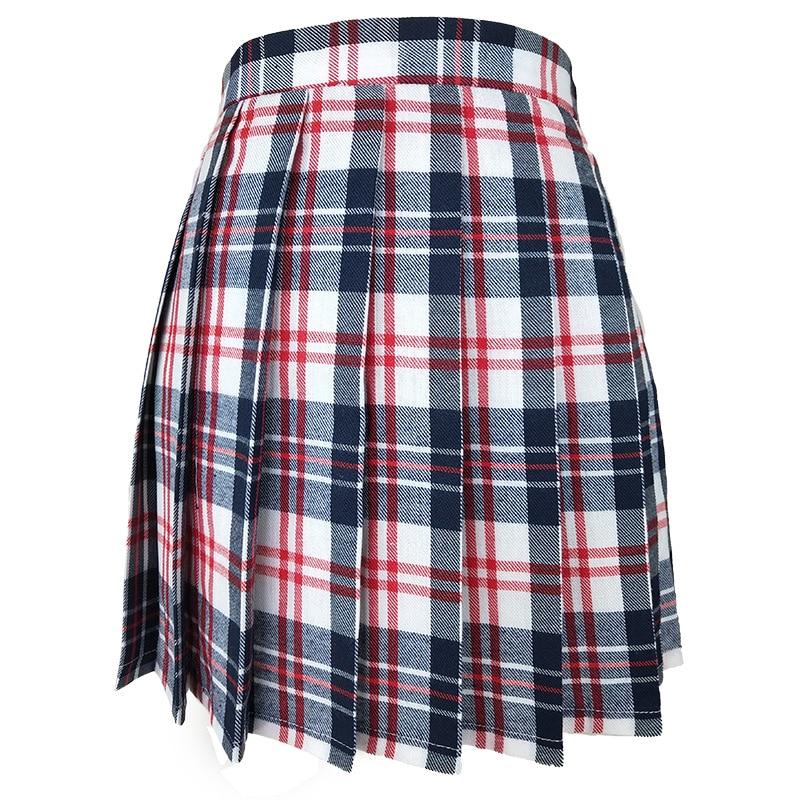 Юбка в складку женская с высокой талией юбка в складку