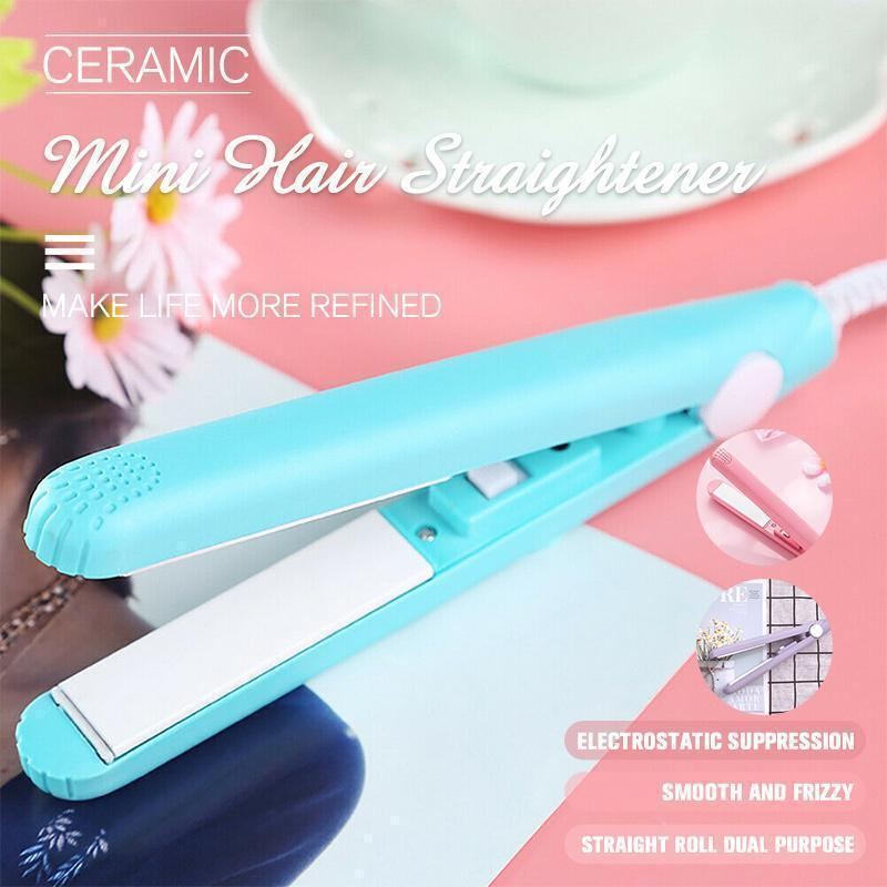 Ceramic Mini Hair Straightener Hair Straightener Irons Hair-Iron-Hairstyling Professional Electronic Portable Styling-Tools hair country professional high quality hair straightener iron white ceramic coating styling tools