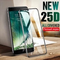 2pcs 200d curved edge protective tempered glass on the for iphone 8 plus x xs glass xr 11pro xs max screen protector film case