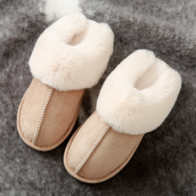 Plush Home Indoor Slippers Women Winter warm suede slippers Light Weight Soft Comfortable Winter men slides plush Shoes Lady 2019 winter women home slippers family couple warm plush slippers indoor household woman shoes bedroom unisex comfortable soft
