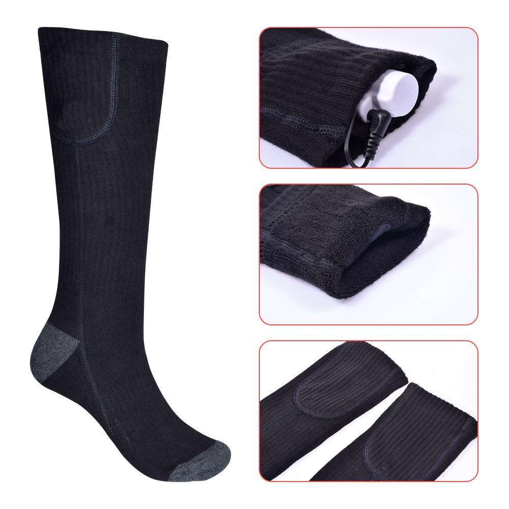 Купить с кэшбэком Electric Heated Scoks 3 Heating Settings Thermal Sock s for Winter Riding