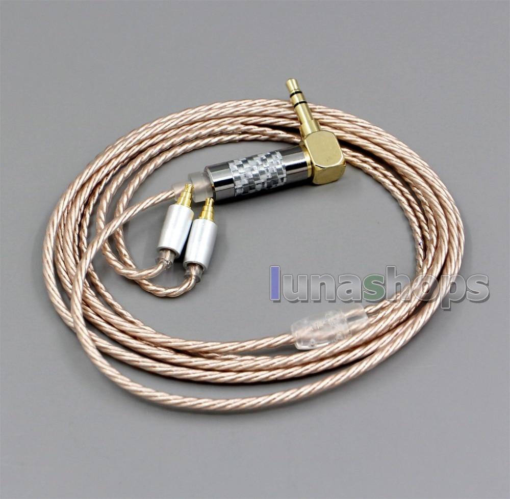 Ln006376 hi-res prata chapeado xlr 3.5mm 2.5mm 4.4mm cabo do fone de ouvido para sennheiser ie40 pro