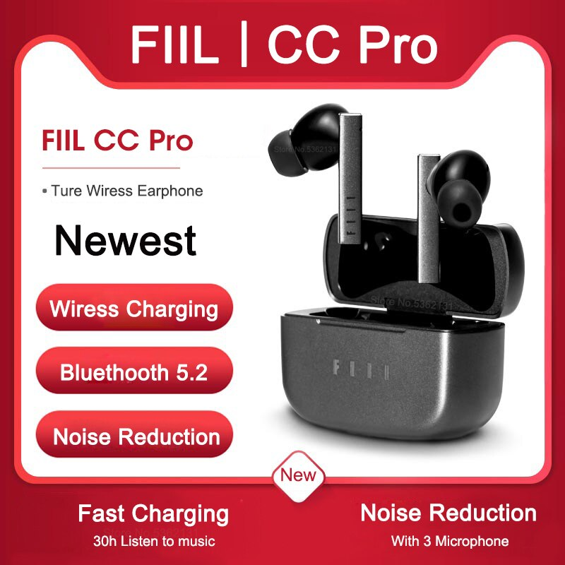 Newest FIIL CC Pro TWS Bluetooth 5.2 Earbuds Dual Noise Reduction Headset True Wireless Earphone Fast Charging Long Battery Life