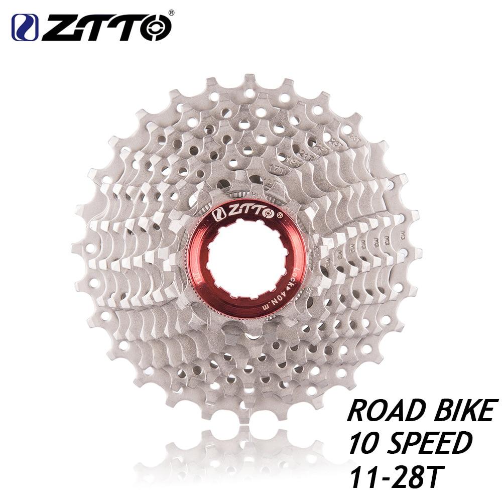 ZTTO-Cassette para bicicleta de carretera, de 10s, 11- 28 T, piñón libre, 10 velocidades, volante, rueda plegable, rueda pequeña, piezas para bicicleta