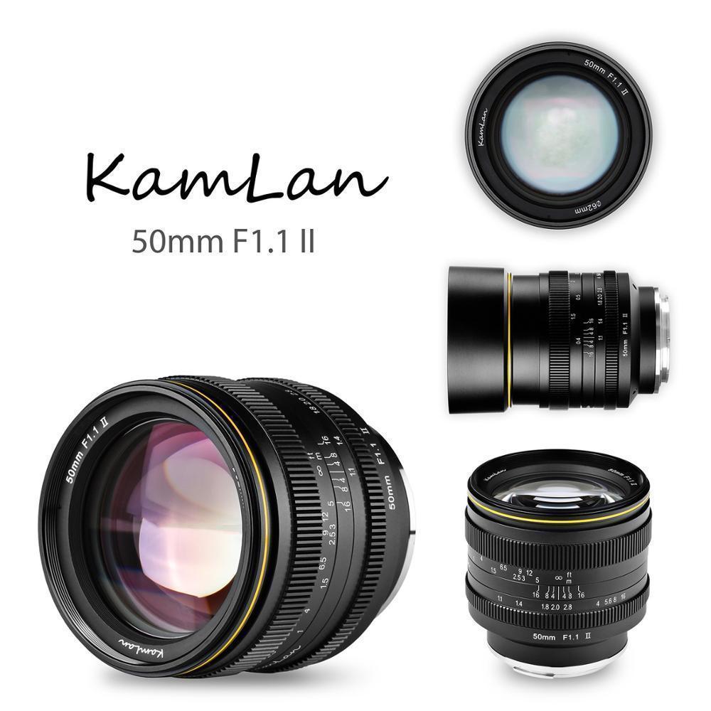 Kamlan 50 مللي متر F1.1-F16 II APS-C فتحة كبيرة دليل عدسات تركيز ل NEX ل EOS-M ل فوجي M4/3 كاميرات 8 عناصر في 6 مجموعات
