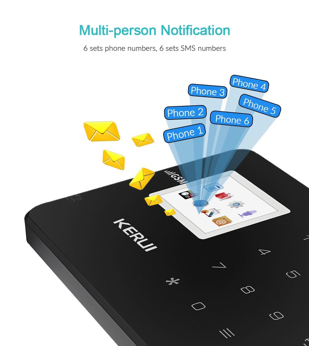 KERUI G18 GSM Wireless Alarm Systems Security Home SIM Smart Alarm System Android IOS APP Control Motion Sensor Burglar Detector enlarge