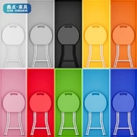 plastic folding stool portable household reinforced small stool outdoor simple thick round stool childrens chair