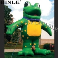 advertising giant inflatable frog balloon with red or yellow belly standing cartoon model for outdoor display