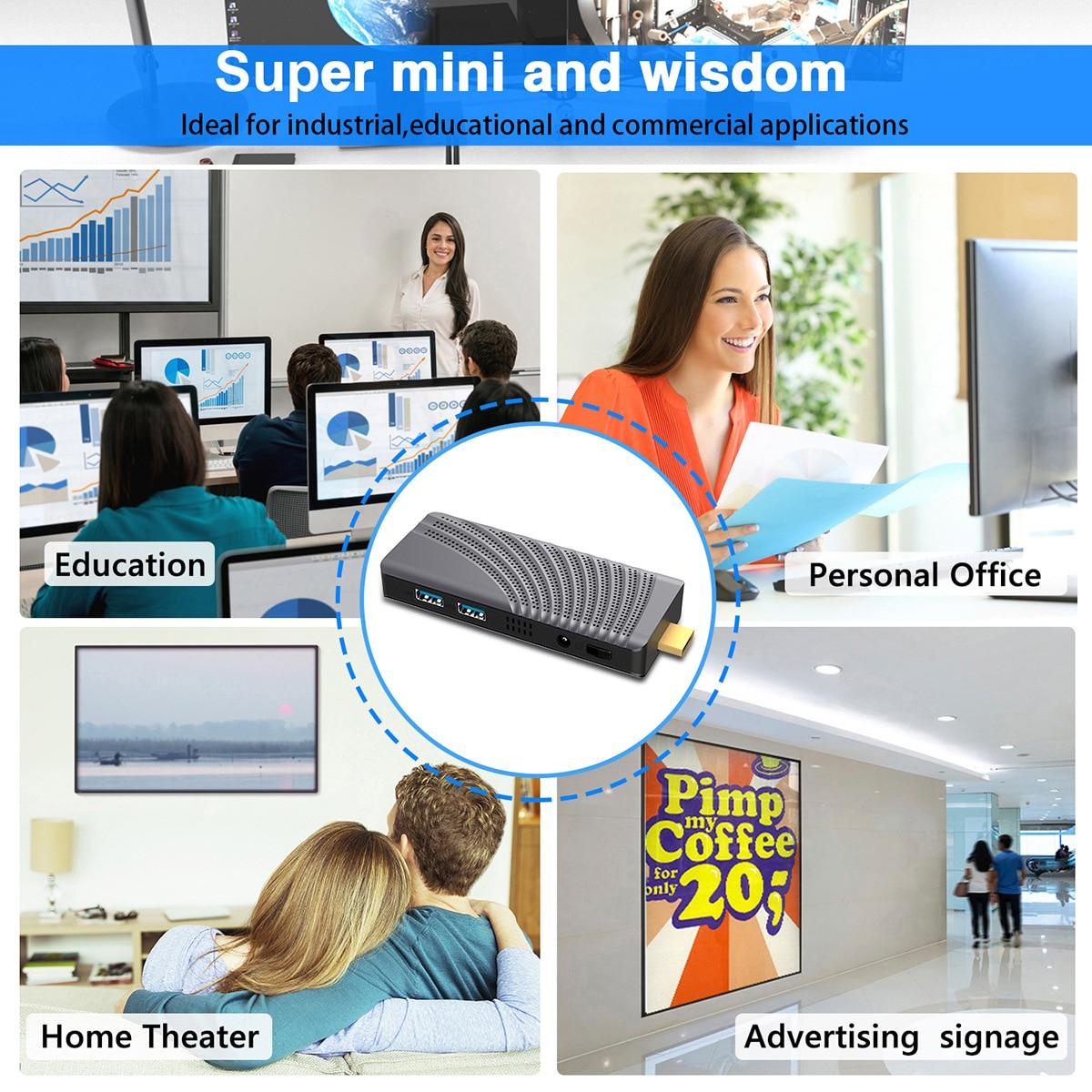 T6 برو جيب الكمبيوتر عصا المحمولة منخفضة الطاقة الكمبيوتر عصا windows10 2gb 4gb ram mini-pc