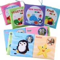 baby cloth book rustle sound animal baby books soft activity quiet book early education learn rattle toys 0 3 year olds toddlers
