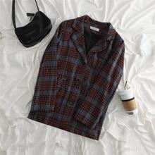 Autumn/winter 2021 New Korean Style Woolen Blazer Plaid Skirt Internet Celebrity Petite Two-piece Se