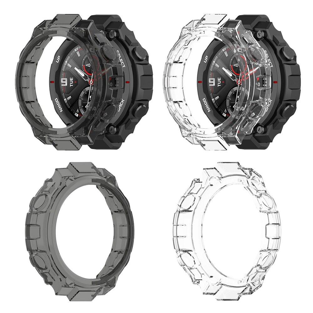 Funda de silicona TPU translúcida para Huami Amazfit t-rex, estuches de t-rex, funda protectora, accesorios para relojes