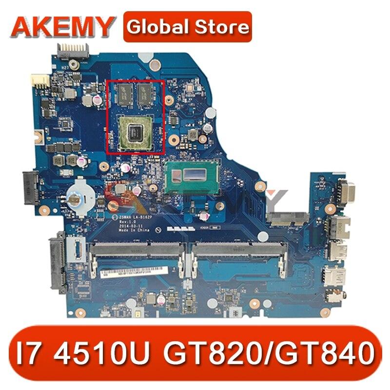 ل أيسر E1-572 V3-572G E5-531 E5-571G اللوحة المحمول LA-B162P LA-B991P mlc11.004 CPU I7 4510U GPU GT820/GT840 اللوحة